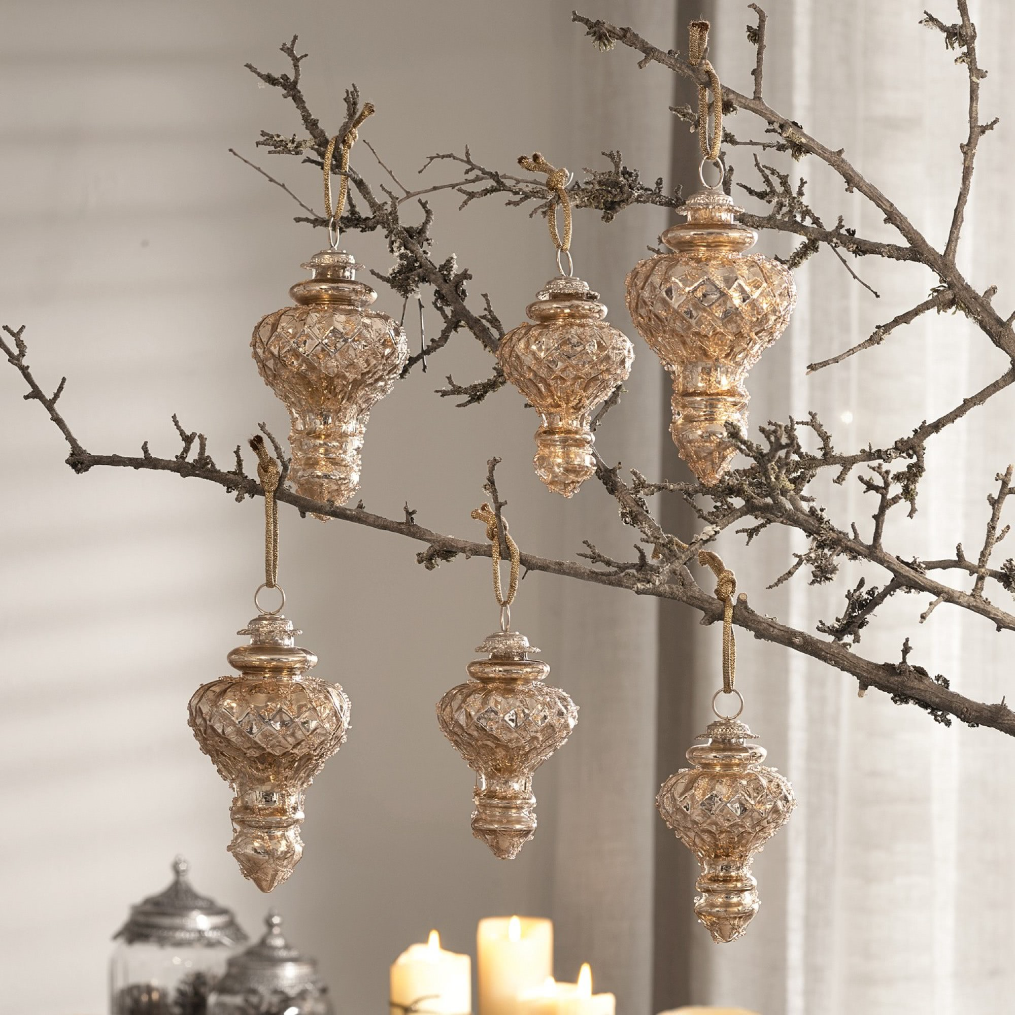 weihnachtsschmuck 6er set mardilly loberon coming home. Black Bedroom Furniture Sets. Home Design Ideas