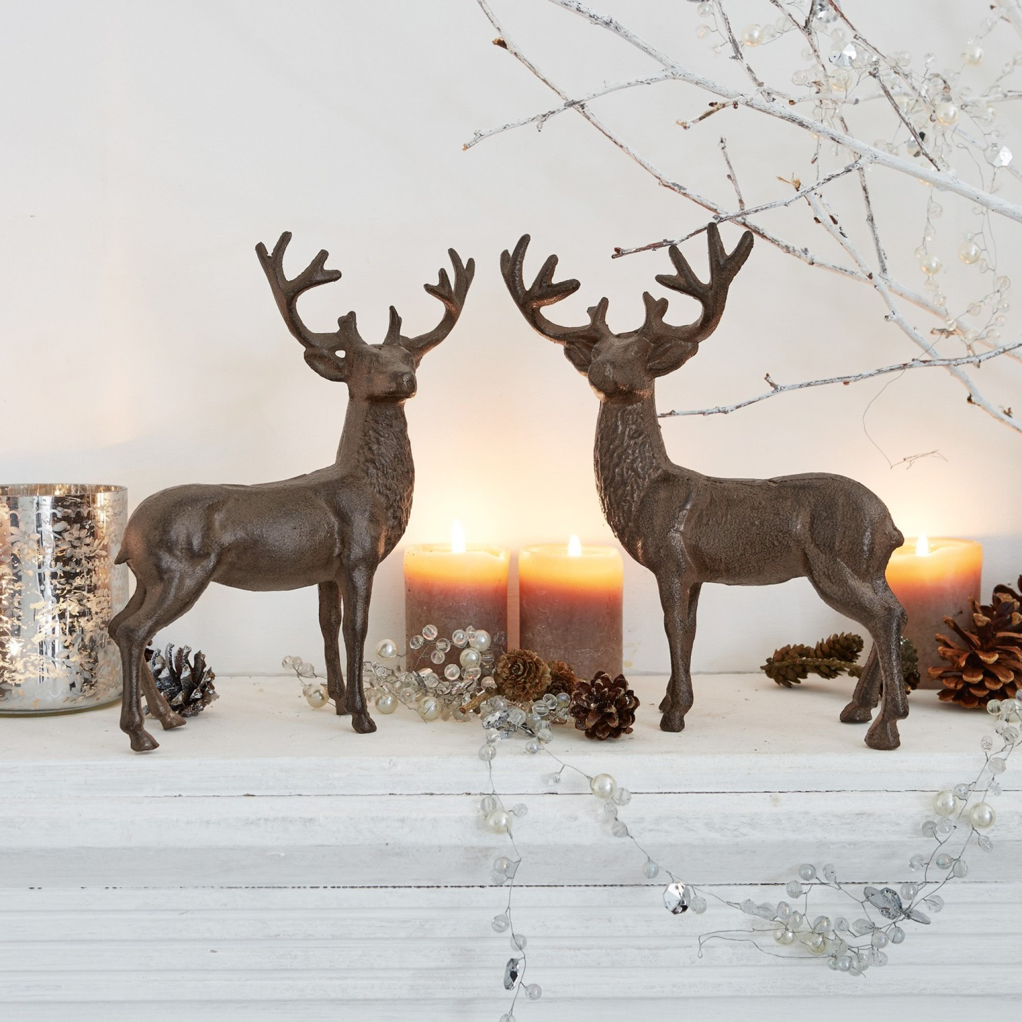Deko hirsch 2er set friends loberon coming home for Deko weihnachten