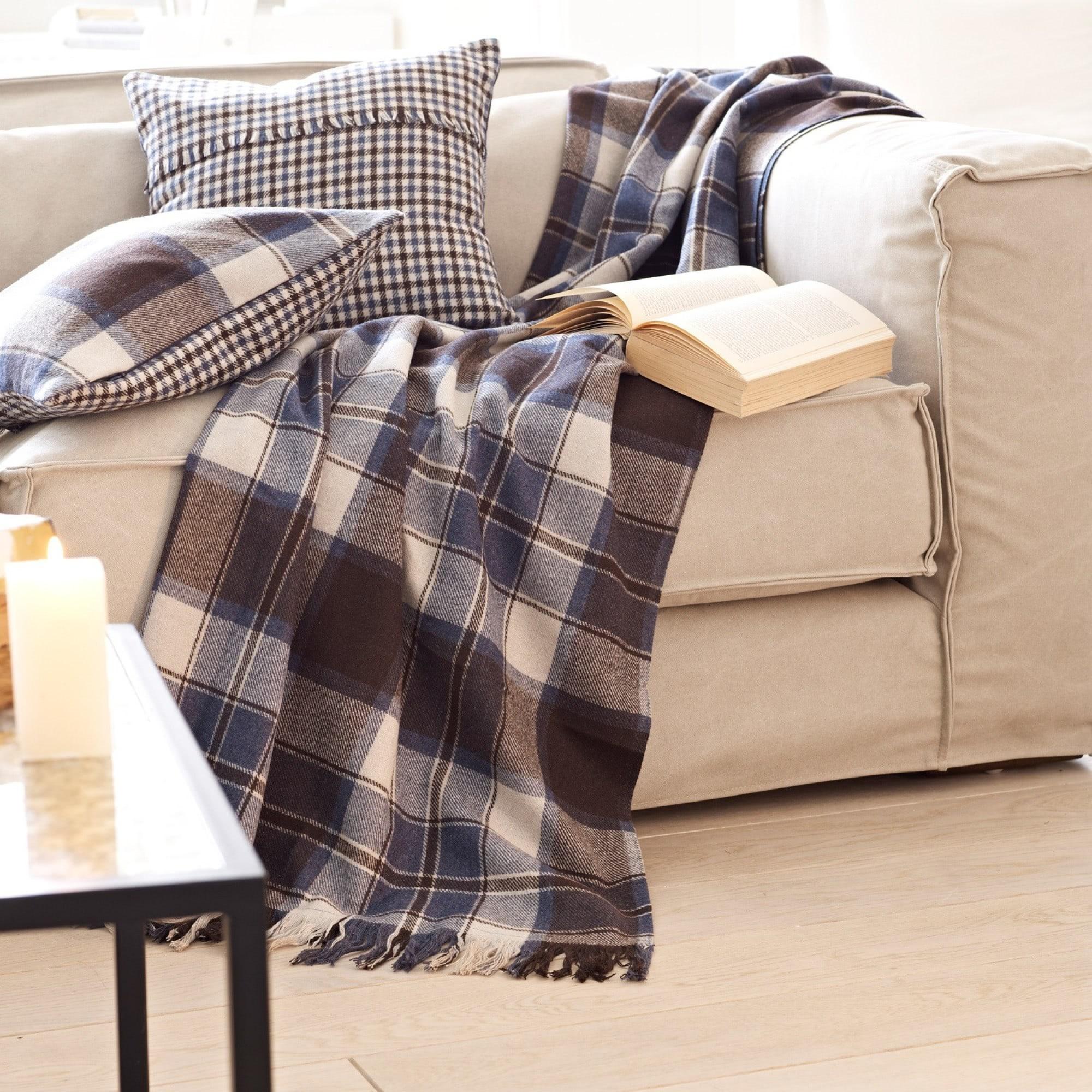 plaid clifton loberon coming home. Black Bedroom Furniture Sets. Home Design Ideas
