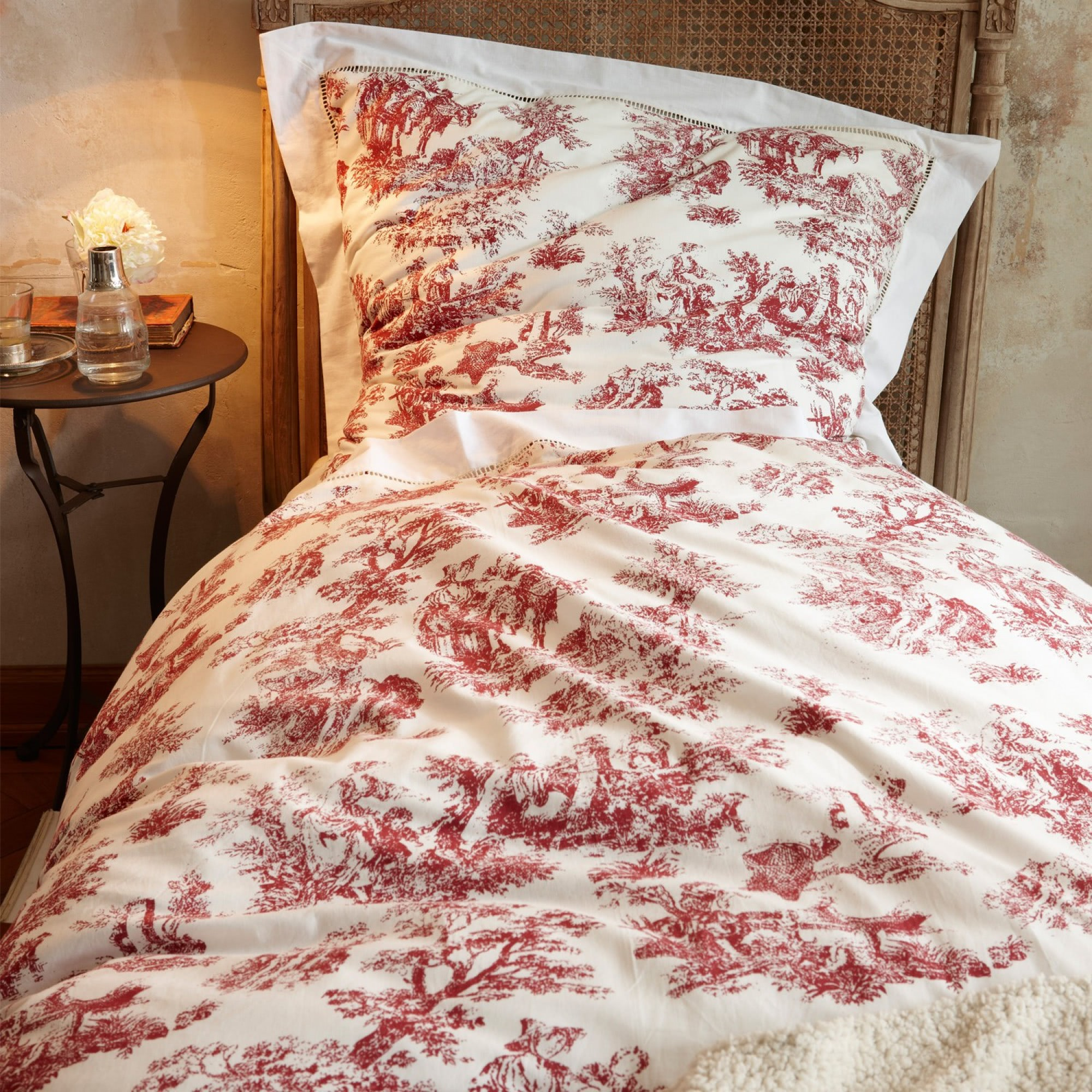 bettw sche toile rouge loberon coming home. Black Bedroom Furniture Sets. Home Design Ideas