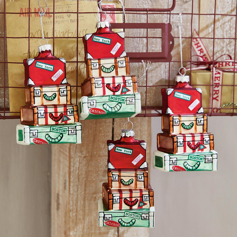 Weihnachtsschmuck 4er Set Violette