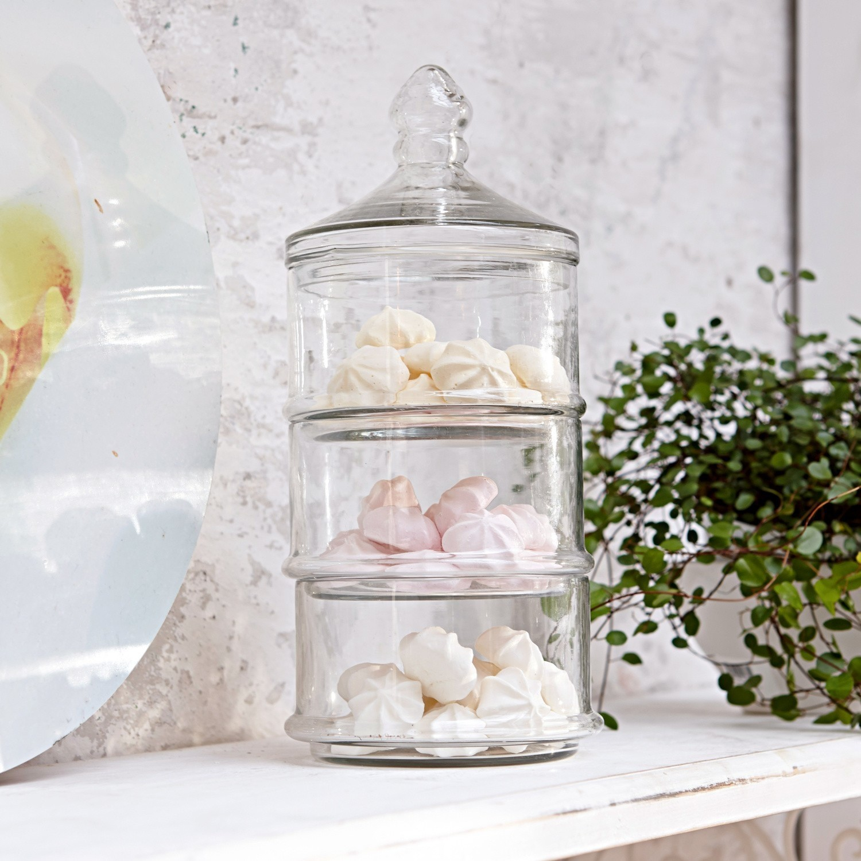 LOBERON Glasdose 3-stöckig Newport| klar (29cm) | Küche und Esszimmer > Aufbewahrung > Vorratsdosen | LOBERON