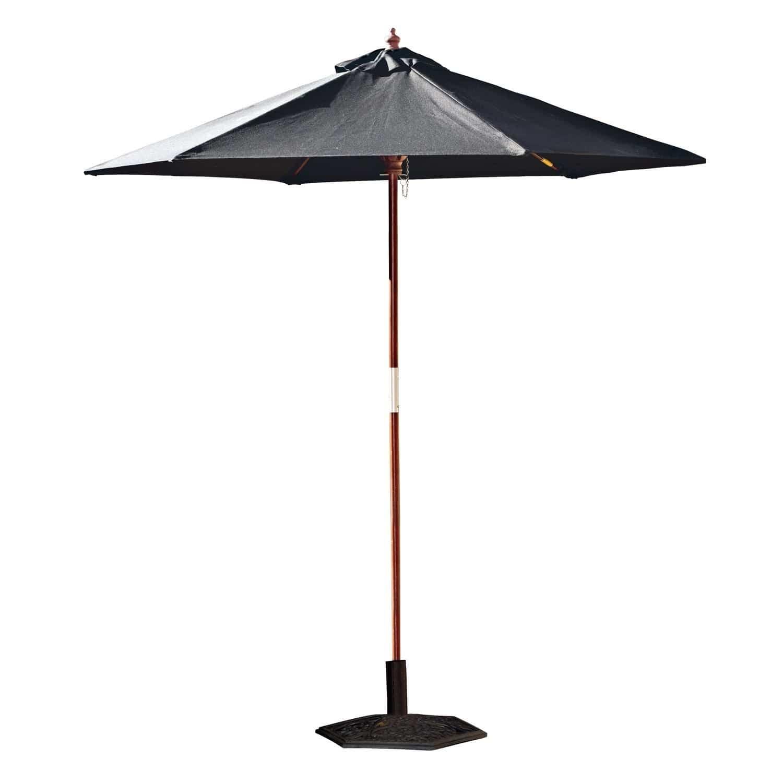 LOBERON Sonnenschirm Enfield, schwarz (213cm)