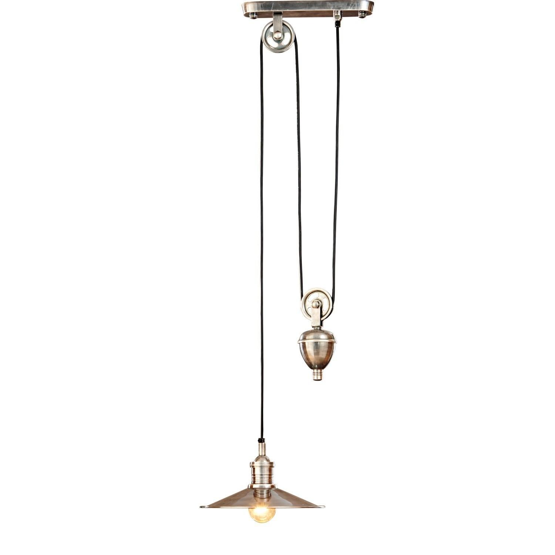 LOBERON Hängelampe Talida, antiksilber (28 x 35 x 115cm)