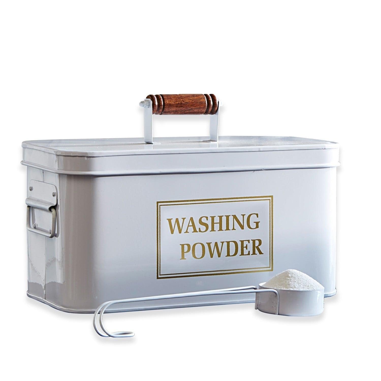 LOBERON Waschmittelbehälter Washing, weiß (31.5 x 17 x 16cm)