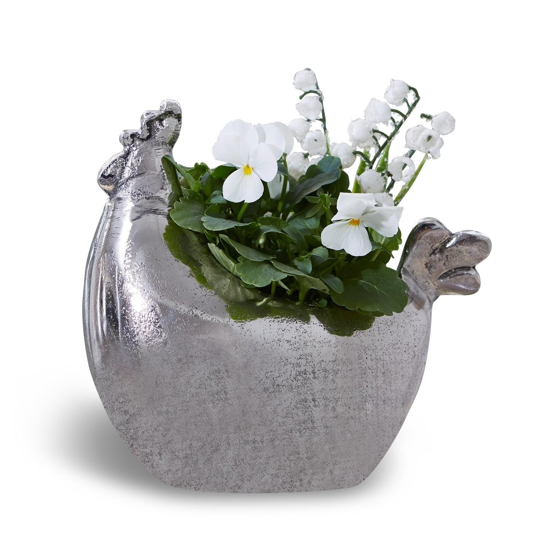Vase in Hennenform