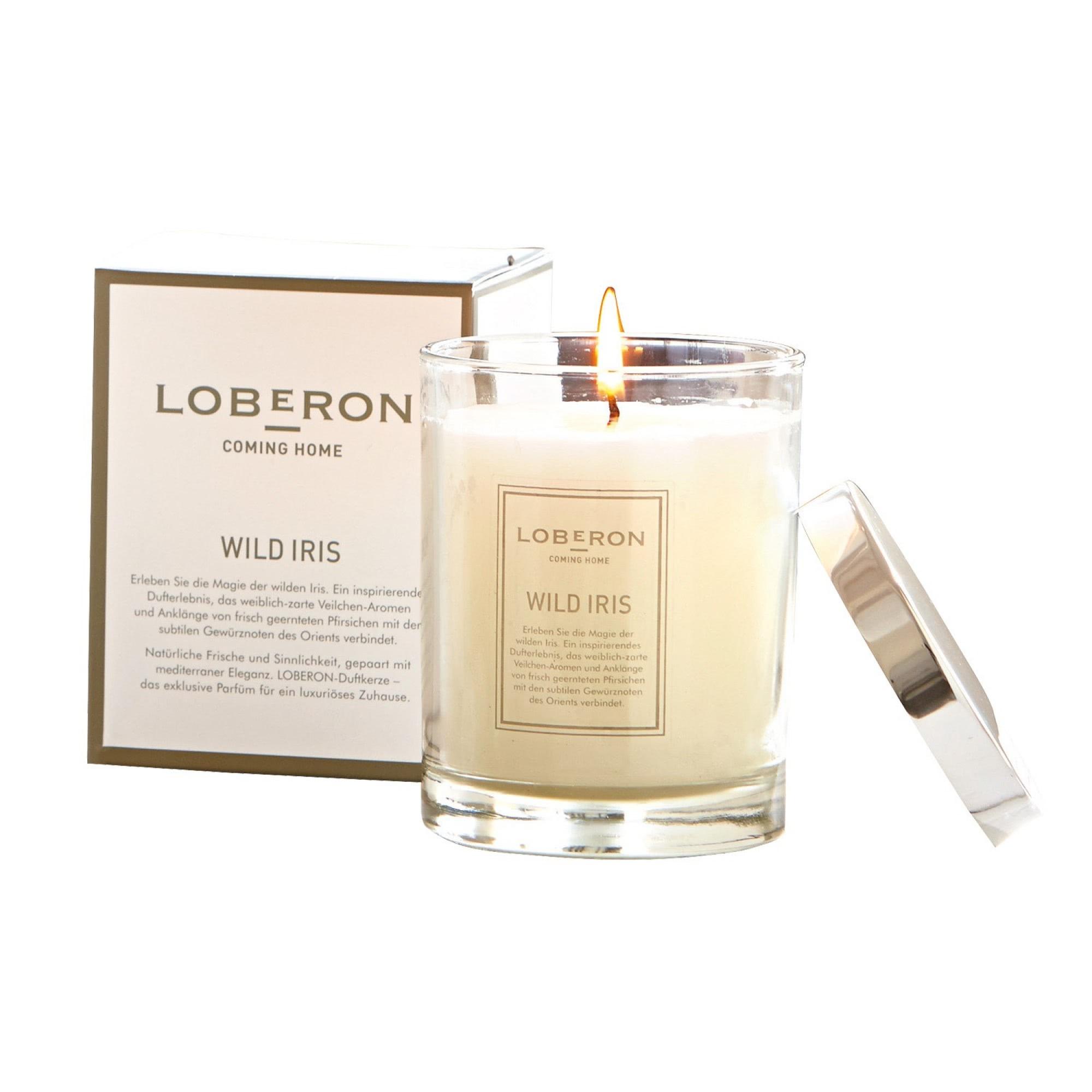 duftkerze wild iris loberon coming home. Black Bedroom Furniture Sets. Home Design Ideas