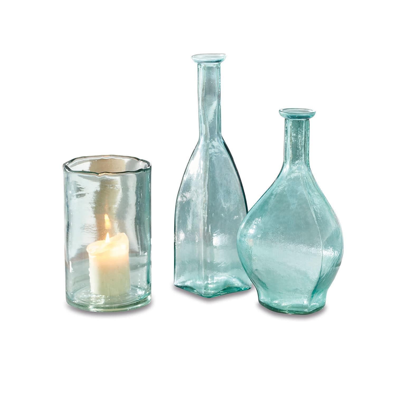 LOBERON Vase 3er Set Voigies, blau