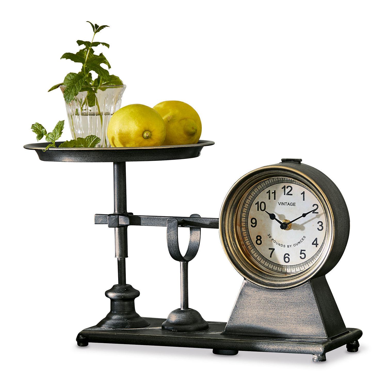 LOBERON Uhr Morelle, grau (25 x 43 x 26cm)