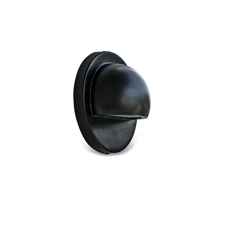 LOBERON Außenwandlampe Reyer, schwarz (10cm)