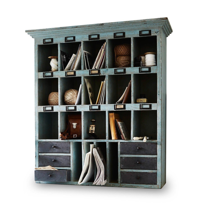 LOBERON Regal Andover, graublau (26 x 78 x 86cm)