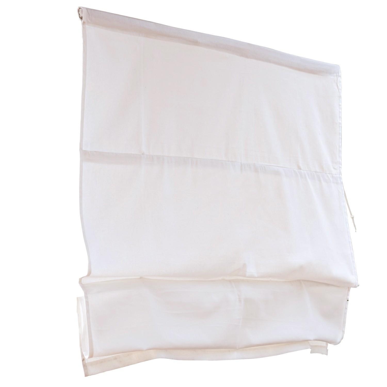 LOBERON Faltrollo Fides, weiß (100 x 120cm)