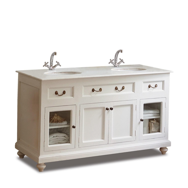 LOBERON Waschtisch Belmont, weiß (60 x 150 x 85cm)