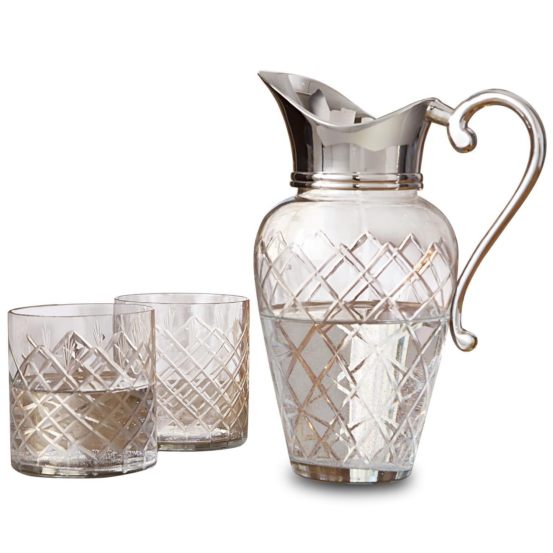 LOBERON Karaffe mit Gläsern Roseline  klar/silber   Küche und Esszimmer > Besteck und Geschirr > Karaffen   LOBERON