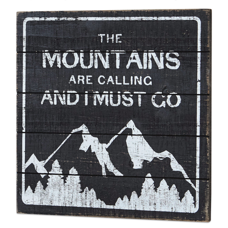 LOBERON Dekoboard Mountain, antikschwarz (1 x 30 x 30cm)