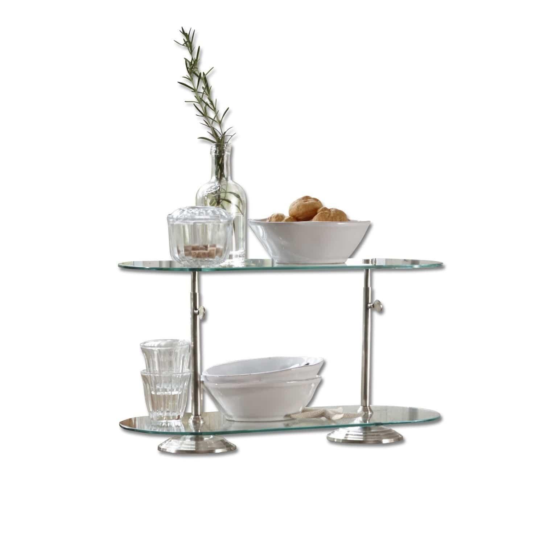 LOBERON Etagere Roussière| klar/silber (20 x 45 x 26cm) | Küche und Esszimmer > Aufbewahrung > Etageren | LOBERON