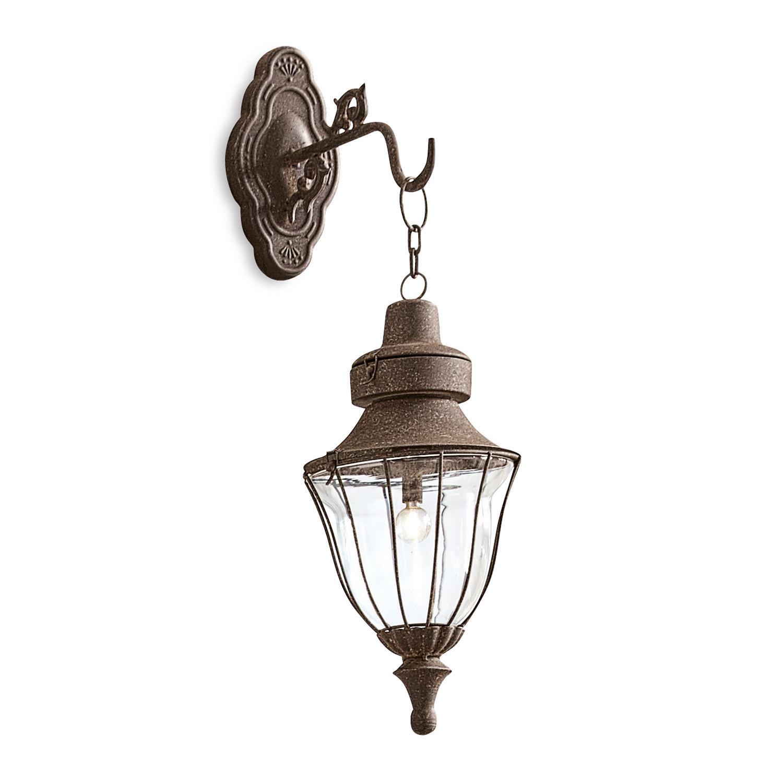 LOBERON LED-Wandlaterne Nannette, braun (37.5cm)