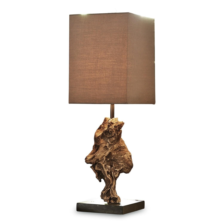 LOBERON Tischlampe Eadlyn, braun (15 x 15 x 50cm)