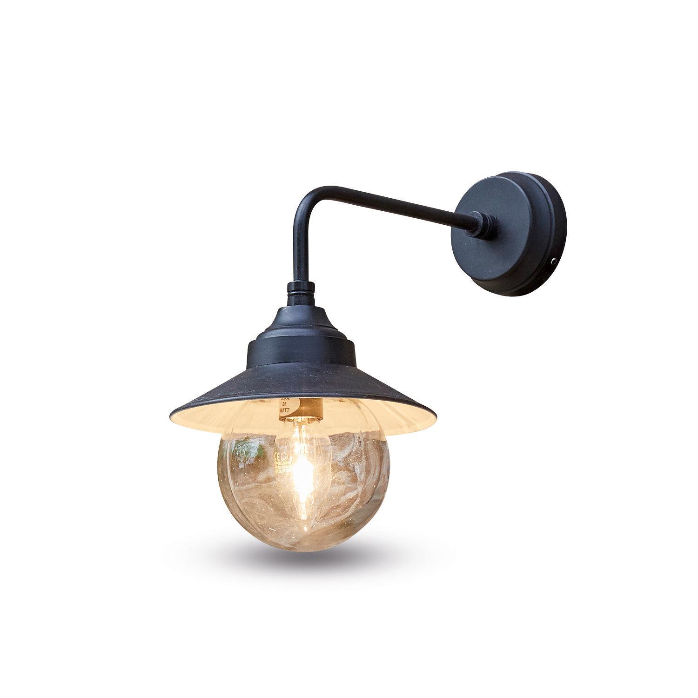 LOBERON Außenwandlampe Mckayla  schwarz (28cm)   Lampen > Aussenlampen > Wandleuchten   LOBERON