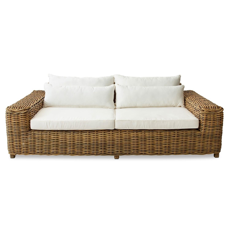 LOBERON Sofa Camas, braun/creme (125 x 225 x 65cm)