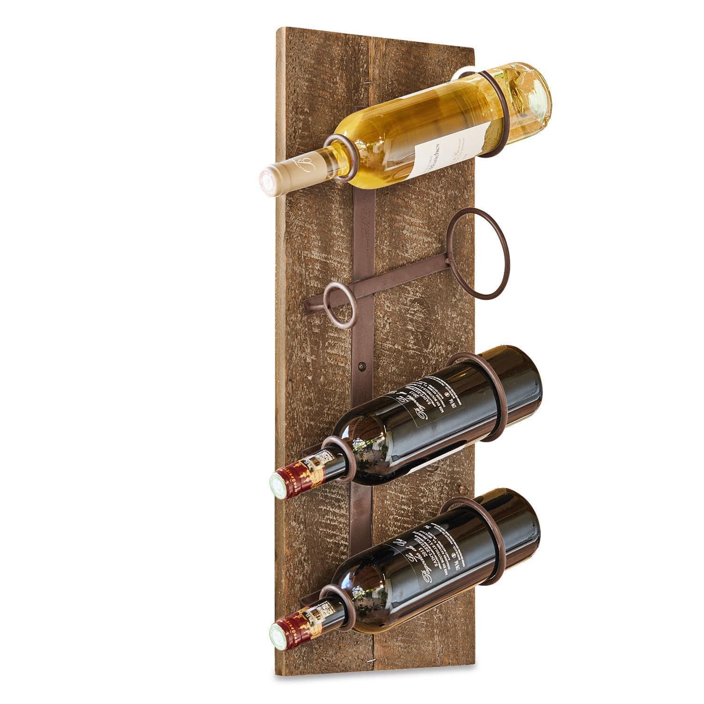 "*NEU*: Flaschenhalter ""Estefan"" aus Tannenholz, braun"