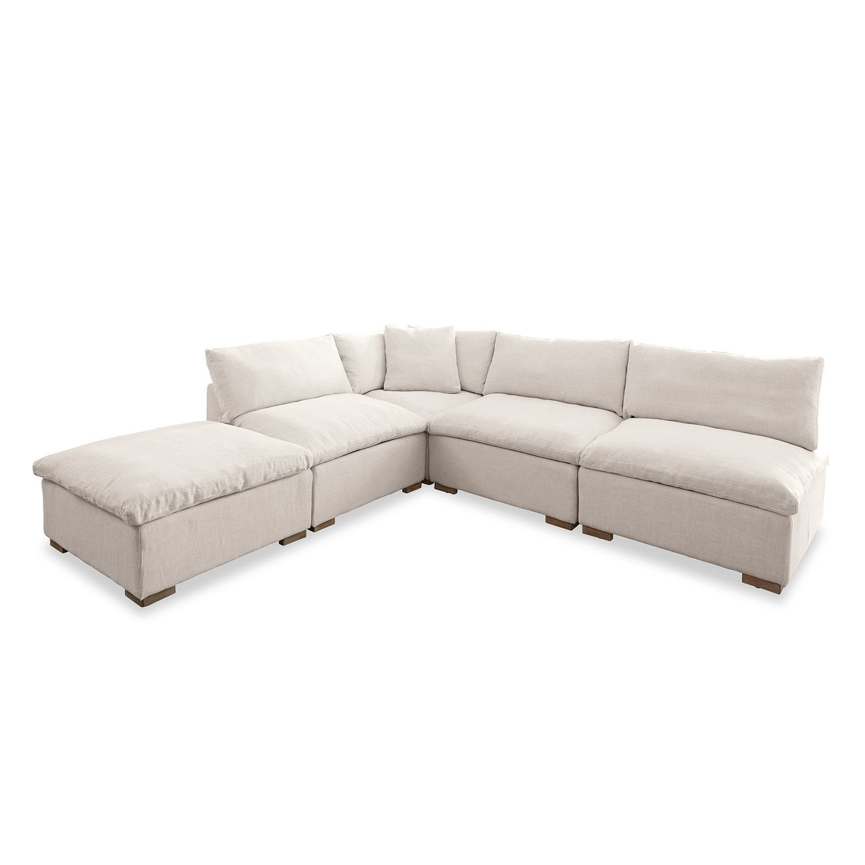LOBERON Sitzgruppe Baladou, creme (300 x 300 x 68cm)