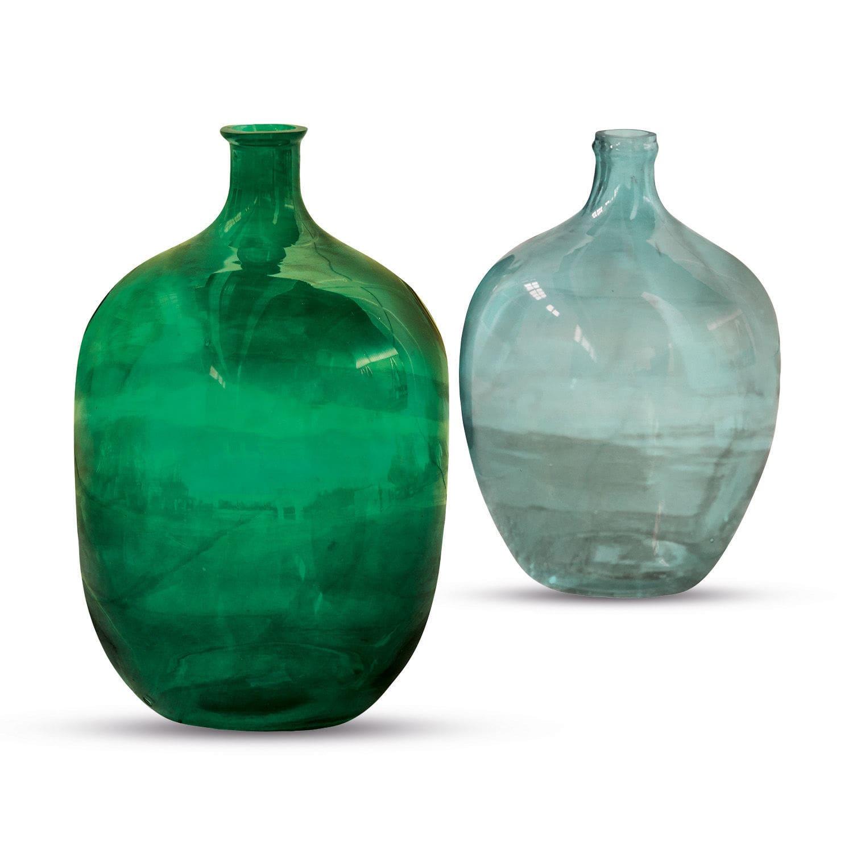 """*NEU*: Vase """"Cassian"""" aus Glas, 2er-Set, grün/blau"""
