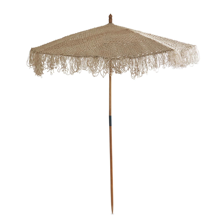 """*NEU*: Sonnenschirm """"Tahiti"""" aus Jute, braun"""