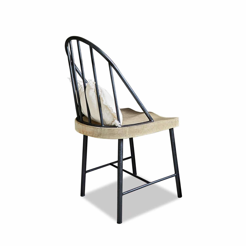 LOBERON Stuhl Rennes, schwarz/braun (50 x 51 x 95cm)