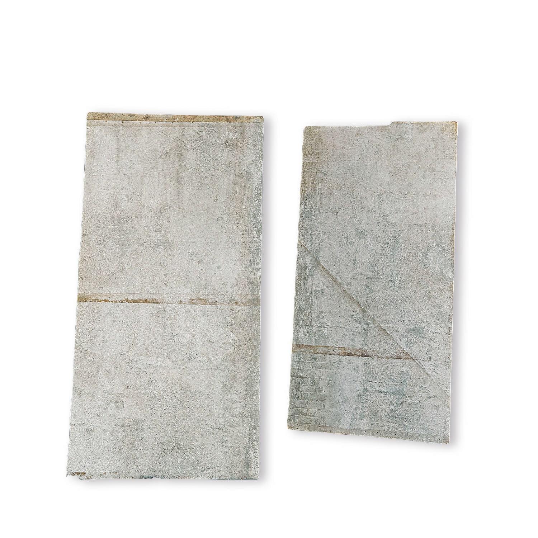 LOBERON Bild 2er Set Estime, antikgrau (2.5 x 51 x 102cm)