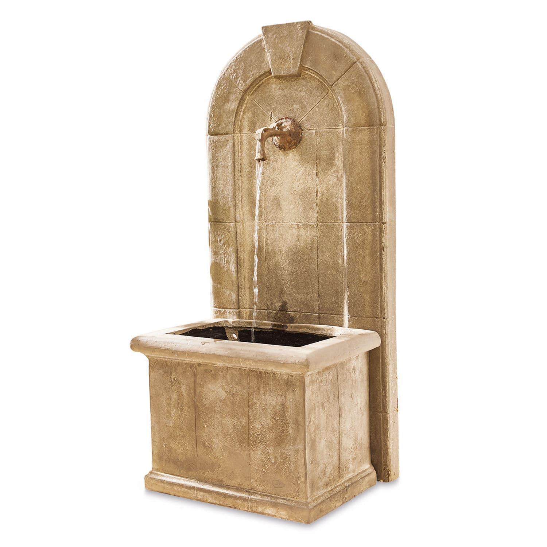 LOBERON Brunnen Ginette, antikgrau (55 x 70 x 151cm)