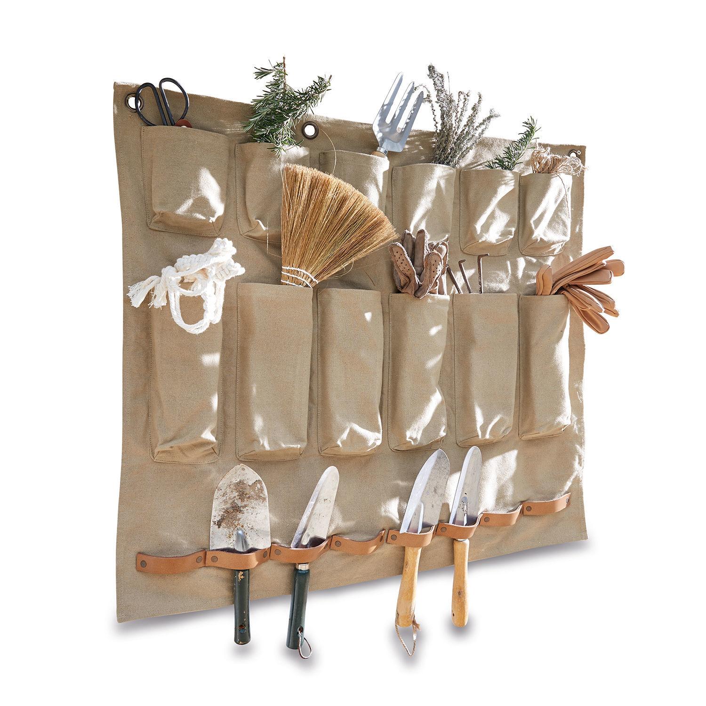 LOBERON Ordnungshelfer Garda, beige/braun (70 x 80cm)