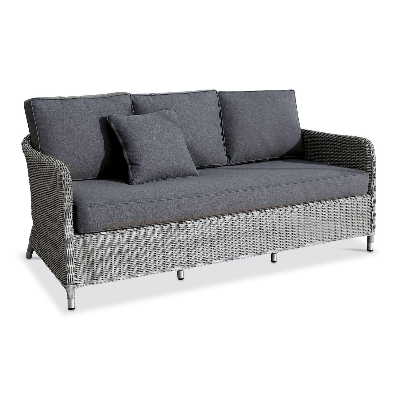 LOBERON Sofa Oilean, grau (162 x 82 x 64cm)