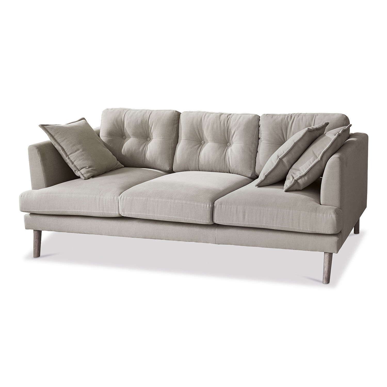 LOBERON Sofa Benguela, grau (202 x 105 x 85cm)