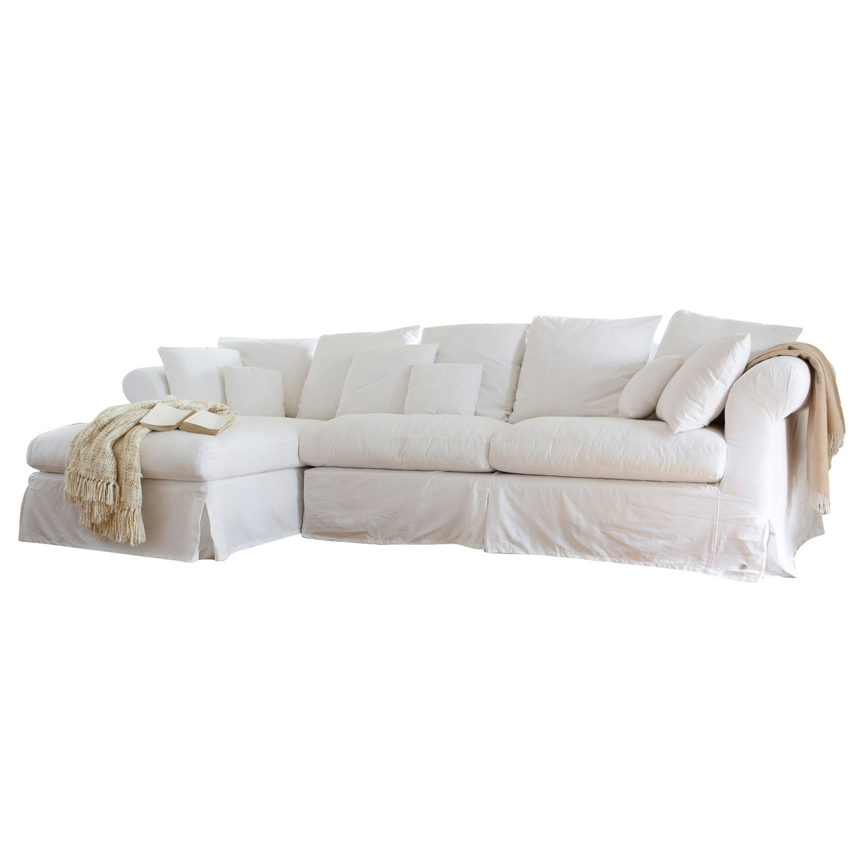 LOBERON Sofa New Haven, weiß (90 x 201 x 95cm)