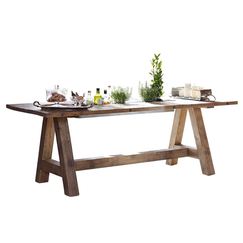 LOBERON Tisch Berrien, braun (100 x 220 x 79cm)