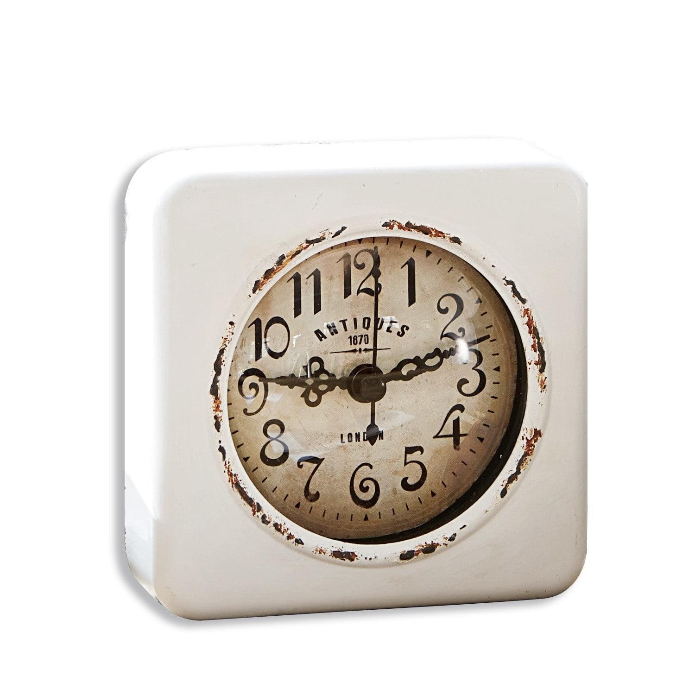 LOBERON Uhr Gervase, antikweiß (3.5 x 10.5 x 10.5cm)