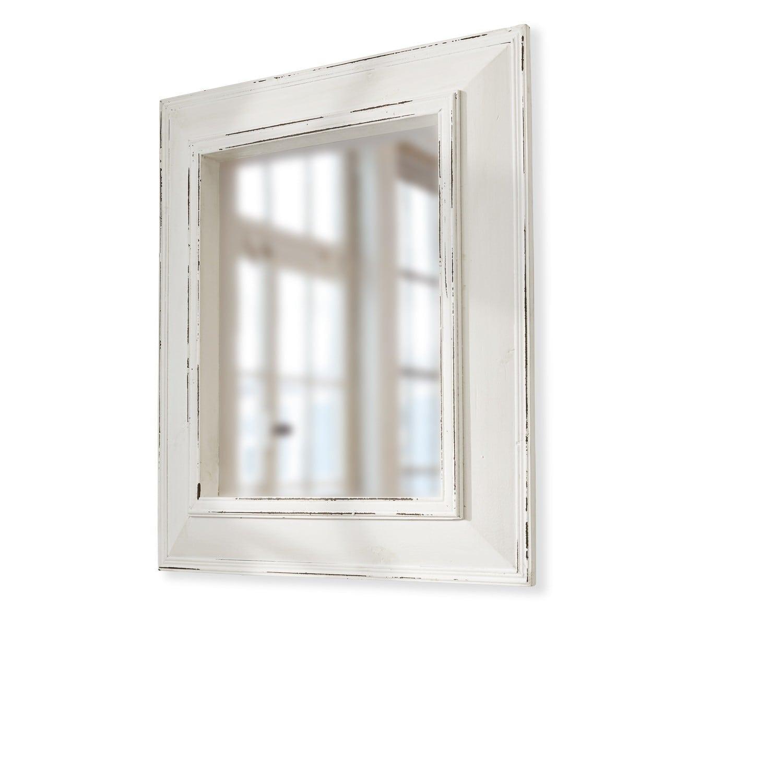 LOBERON Spiegel Reed, weiß (5 x 58 x 68cm)
