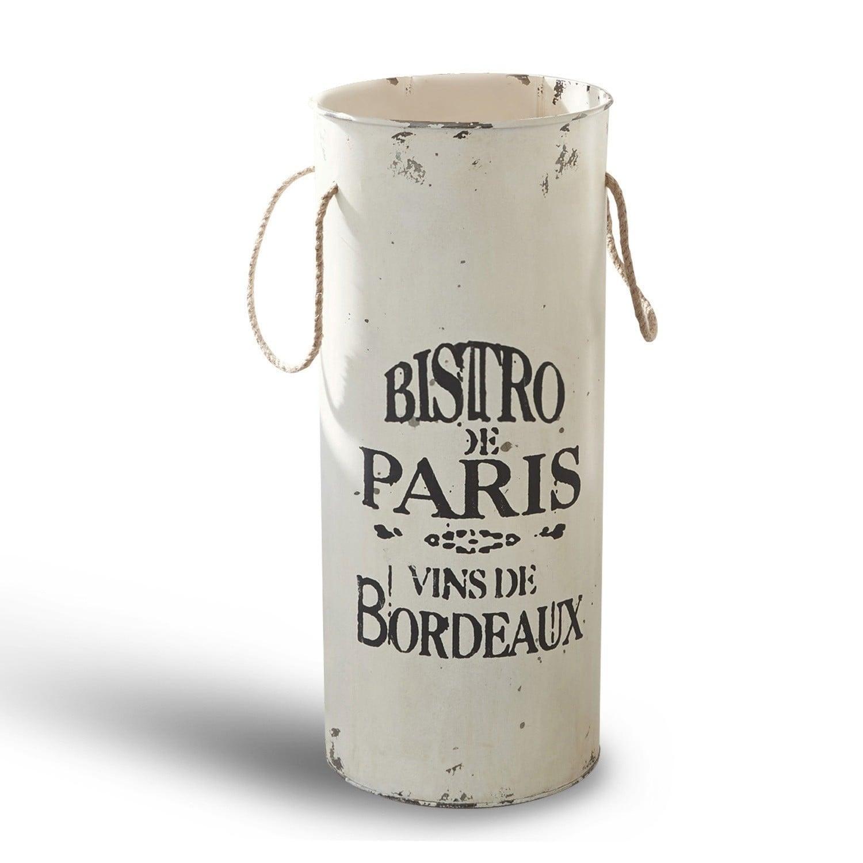 LOBERON Schirmständer Bordeaux, antikweiß (60cm)