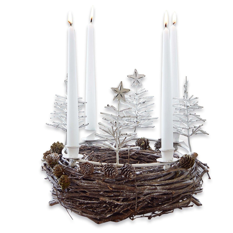 LOBERON Kerzenkranz Maryport, antikweiß (18cm)