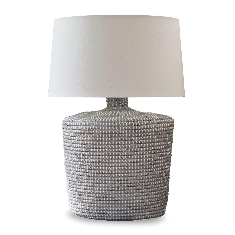 LOBERON Tischlampe Nadya, weiß/creme (64cm)