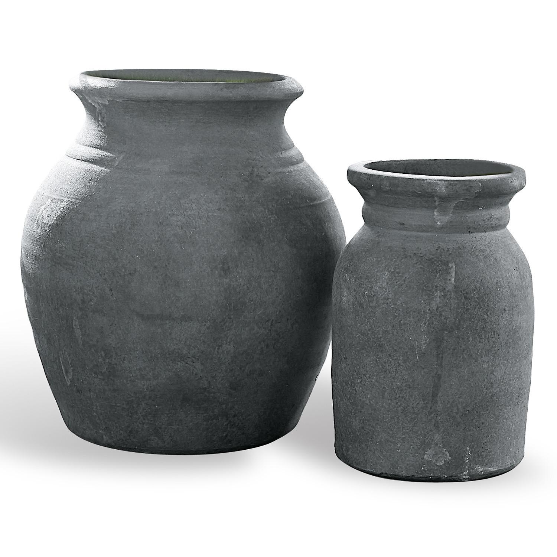 LOBERON Vase 2er Set Molduc, antikbraun