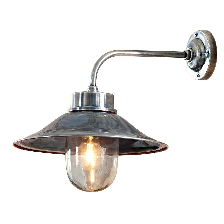 LOBERON Außenwandlampe Reno, antiksilber (43 x 23 x 34cm)