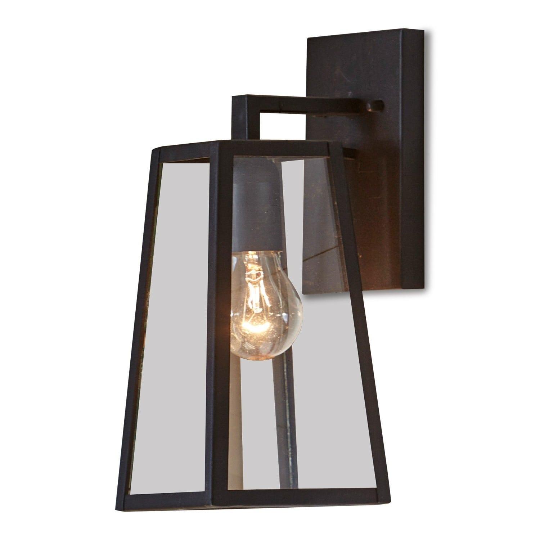 LOBERON Außenwandlampe Clarion, schwarz (14 x 13 x 35cm)