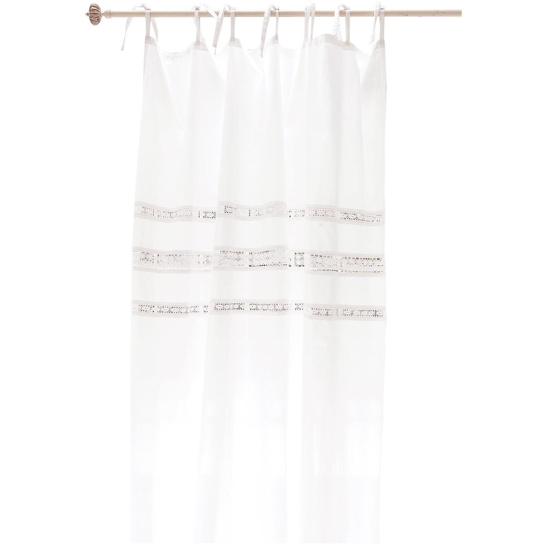 LOBERON Gardine Lisburn, weiß (135 x 250cm)