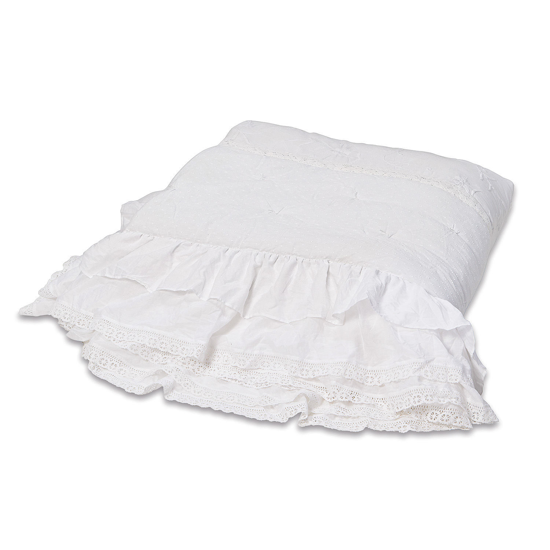 LOBERON Quilt Pittefaux, weiß (260 x 240cm)