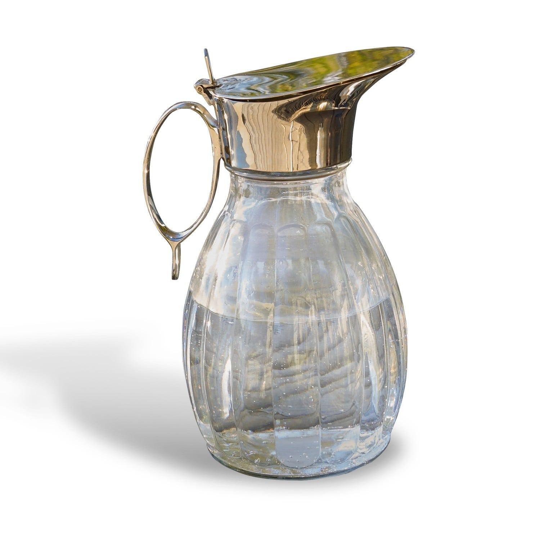 LOBERON Krug Agudelle  klar/silber (13 x 16.5 x 23.5cm)   Küche und Esszimmer > Besteck und Geschirr > Karaffen   LOBERON