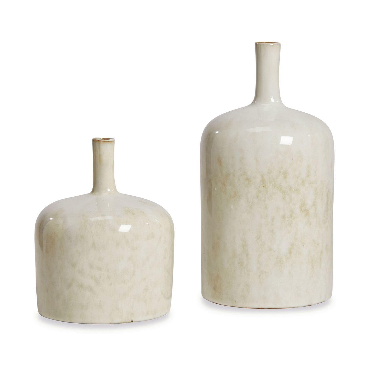 LOBERON Vase 2er Set Kurys, creme