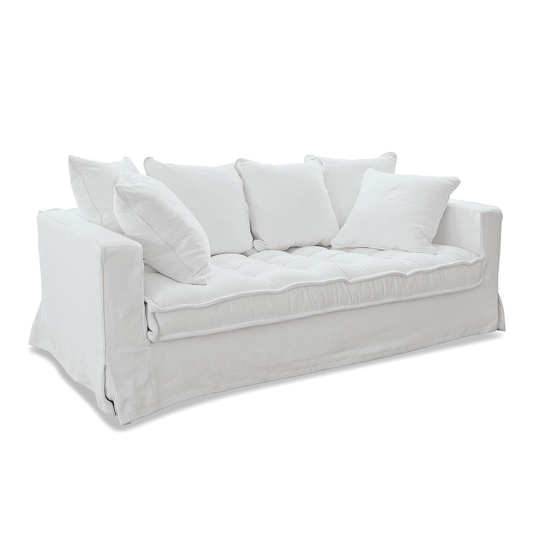 LOBERON Sofa Mios, weiß (105 x 206 x 74cm)
