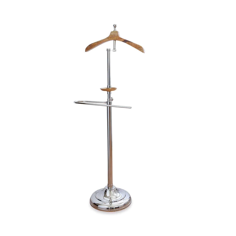 LOBERON Herrendiener Hamon, silber/braun (33 x 49 x 130cm)